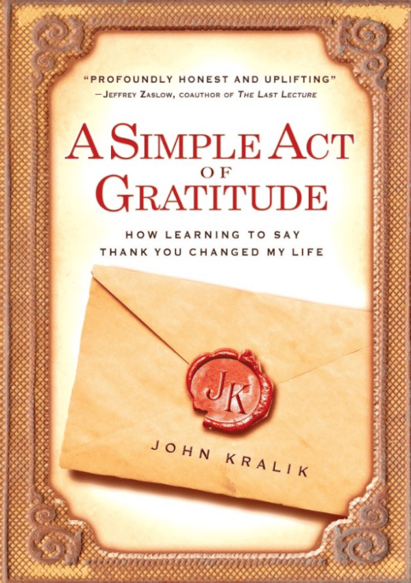 A Simple Act of Gratitude Book Cover
